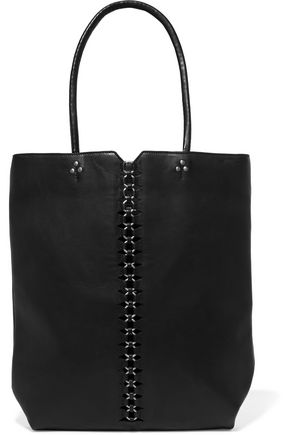 JÉRÔME DREYFUSS Dario chain-trimmed leather tote