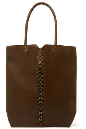 JÉRÔME DREYFUSS Dario chain-embellished textured-leather tote