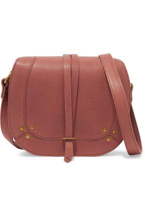 JÉrÔme Dreyfuss Victor Chain Trimmed Textured Leather Shoulder Bag