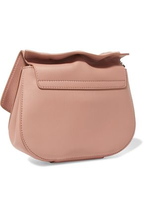 JIL SANDER Ridge micro leather shoulder bag
