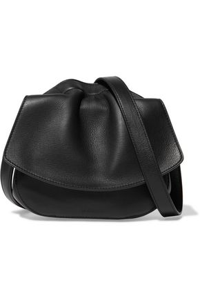 JIL SANDER Ridge leather shoulder bag