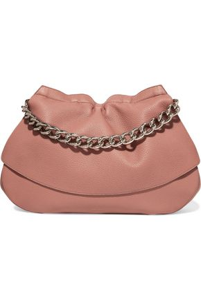 JIL SANDER Ridge textured-leather shoulder bag
