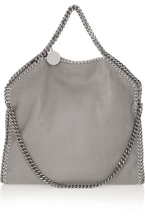 STELLA McCARTNEY Falabella medium faux brushed-leather shoulder bag