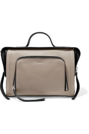DKNY Two-tone textured-leather tote