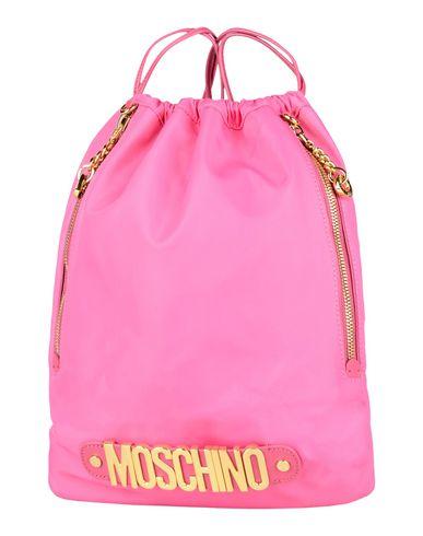 MOSCHINO レディース バックパック&ヒップバッグ フューシャ 紡績繊維