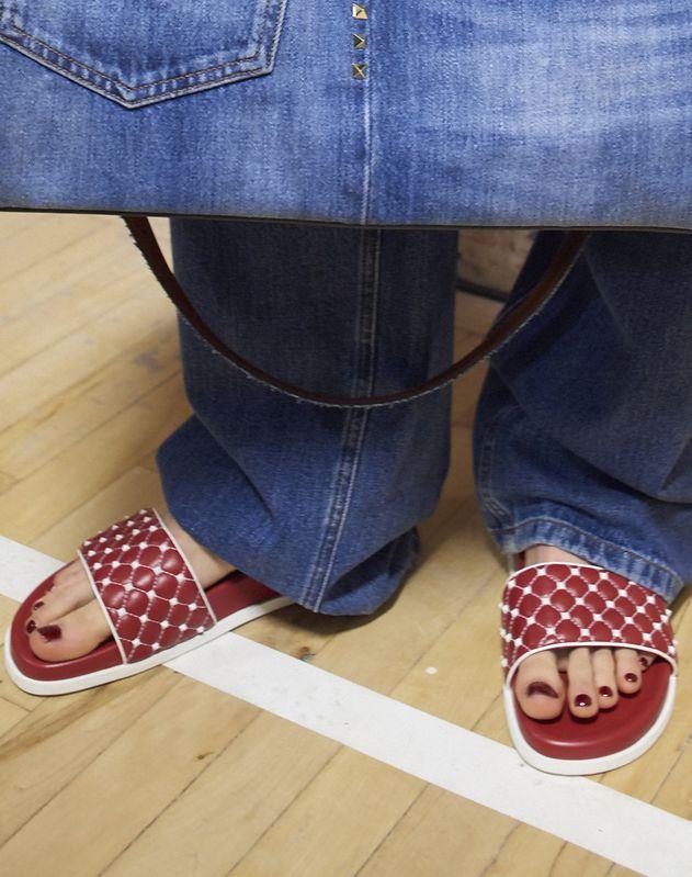 Free Rockstud Spike Slide Sandal