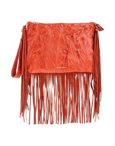 VIA REPUBBLICA レディース ハンドバッグ 赤茶色 羊革(ラムスキン) 100% / 牛革(カーフ)