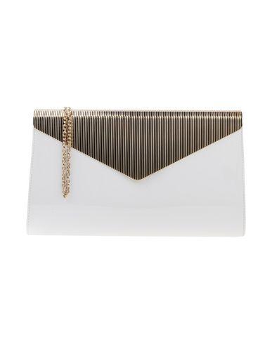 CHIARA P レディース ハンドバッグ ホワイト 紡績繊維 / 金属
