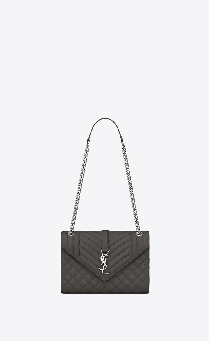 saint laurent envelope medium bag in grain de poudre embossed