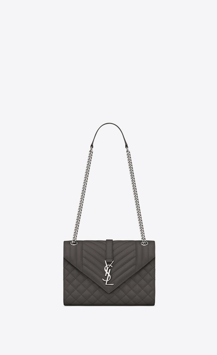 Saint Laurent Envelope Medium Bag In Grain De Poudre Embossed Leather   YSL .com 954a8a8dce