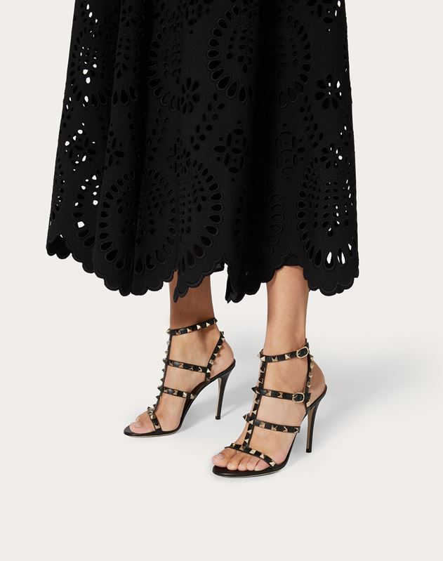 Rockstud Caged Sandal 100mm