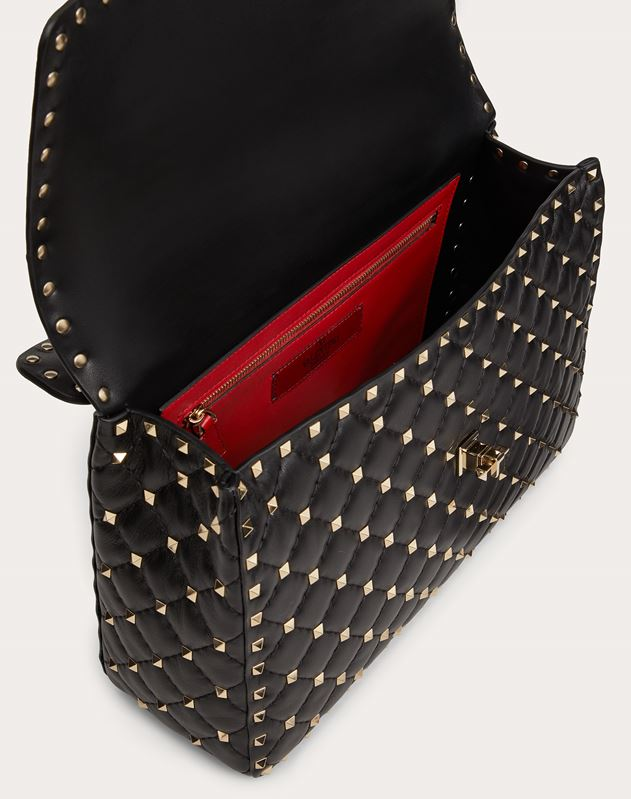 Large Rockstud Spike Chain Bag