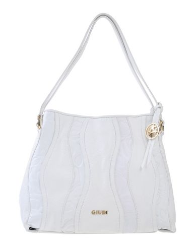 GIUDI レディース ハンドバッグ ホワイト 革
