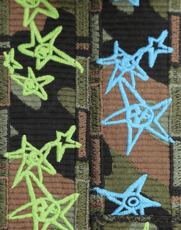 Camouflage Stars Guitar Strap