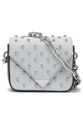 ALEXANDER WANG Studded cotton-twill shoulder bag
