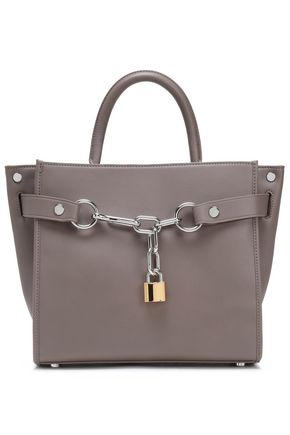 ALEXANDER WANG Chain-trimmed leather tote bag