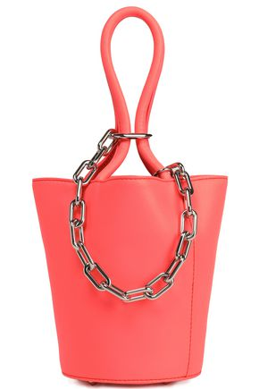 ALEXANDER WANG Chain-embellished leather bucket bag