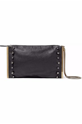 LANVIN Embellished textured-leather clutch