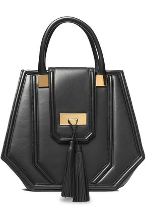 BALMAIN Tasseled leather tote