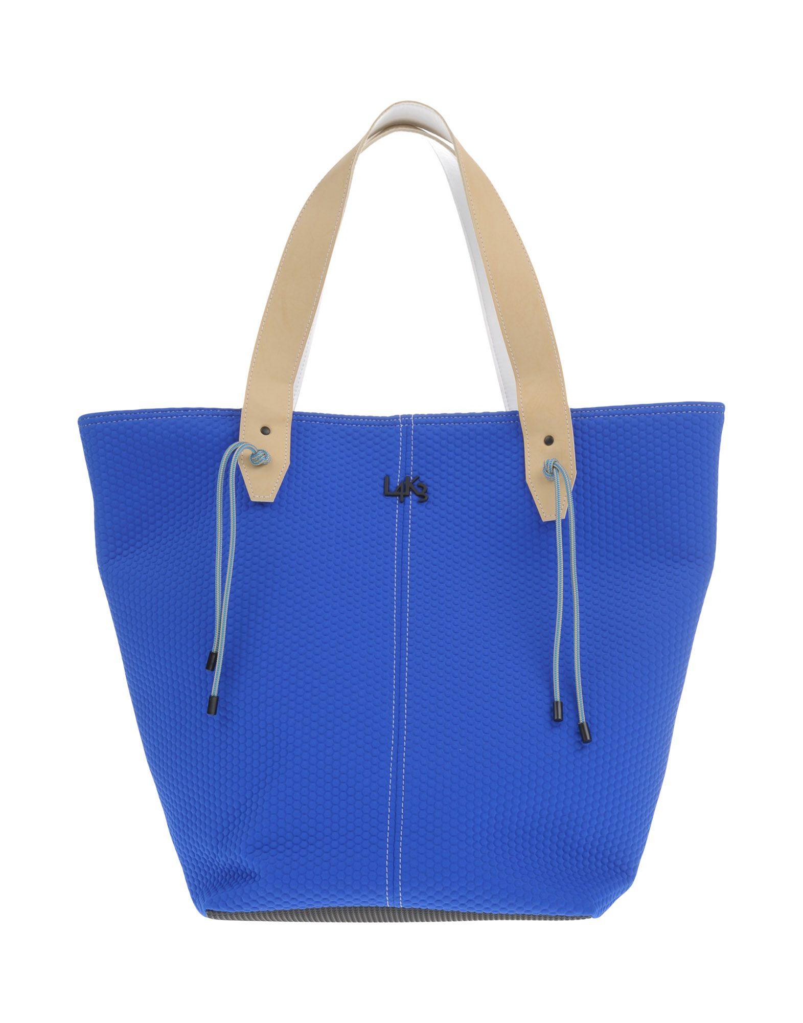 《送料無料》L4K3 レディース ハンドバッグ ブライトブルー 紡績繊維