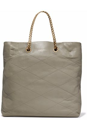 LANVIN Chain-trimmed leather tote