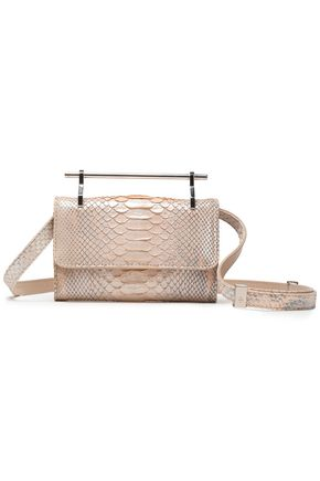 M2MALLETIER Snake-effect leather shoulder bag