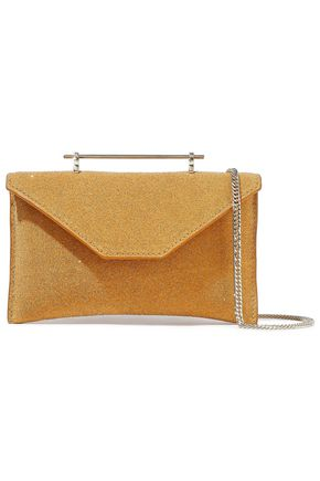 M2MALLETIER Glittered suede shoulder bag