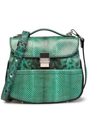 PROENZA SCHOULER Paneled python shoulder bag