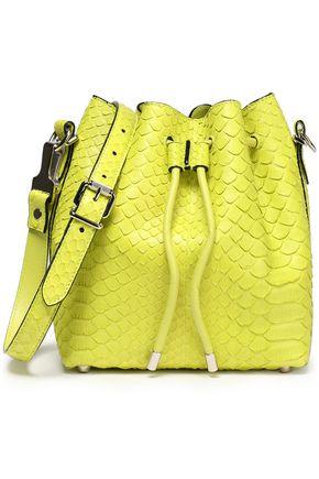 PROENZA SCHOULER Neon python bucket bag