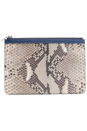 PROENZA SCHOULER Leather-trimmed python pouch