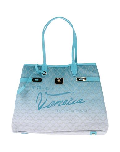 V°73 レディース ハンドバッグ アジュールブルー 紡績繊維