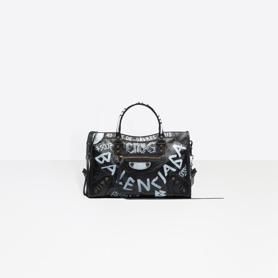 edbf8ab64cc1 BALENCIAGA Classic City S Graffiti Seasonal Handbag Woman f ...