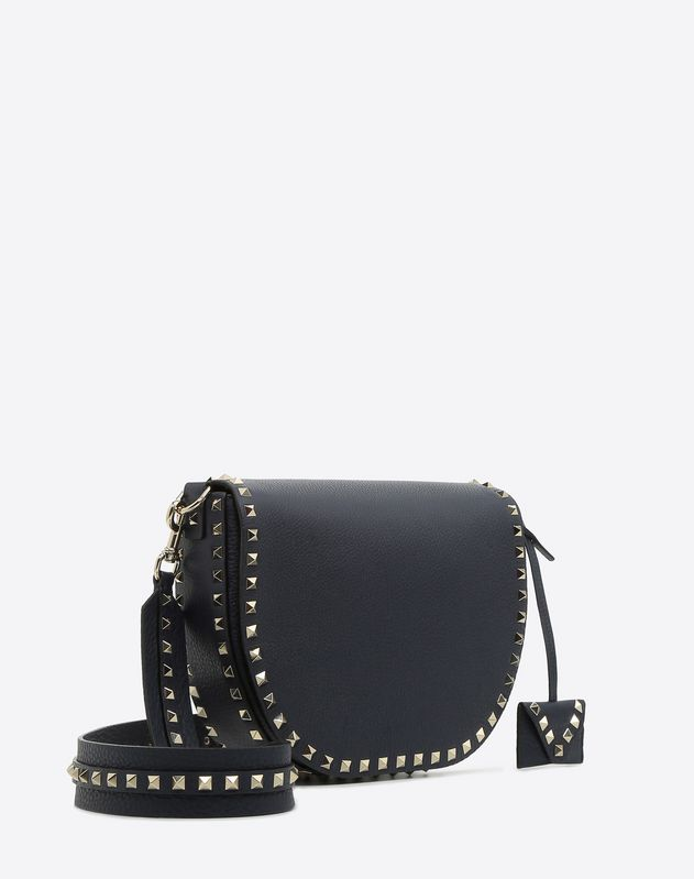 Navy Rockstud Crossbody Bag