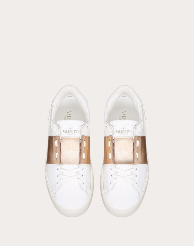 Open Sneaker with Metallic Stripe