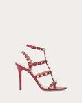 Rockstud Calfskin Ankle Strap Sandal 100 mm