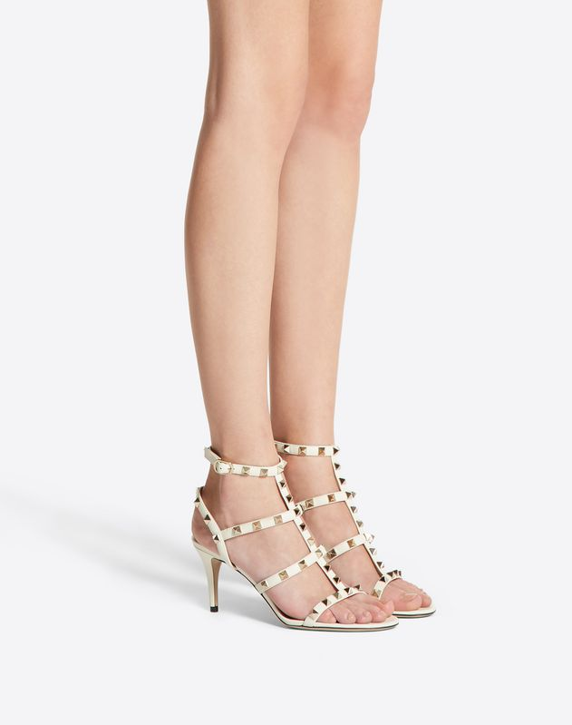 Rockstud caged Sandal 70mm