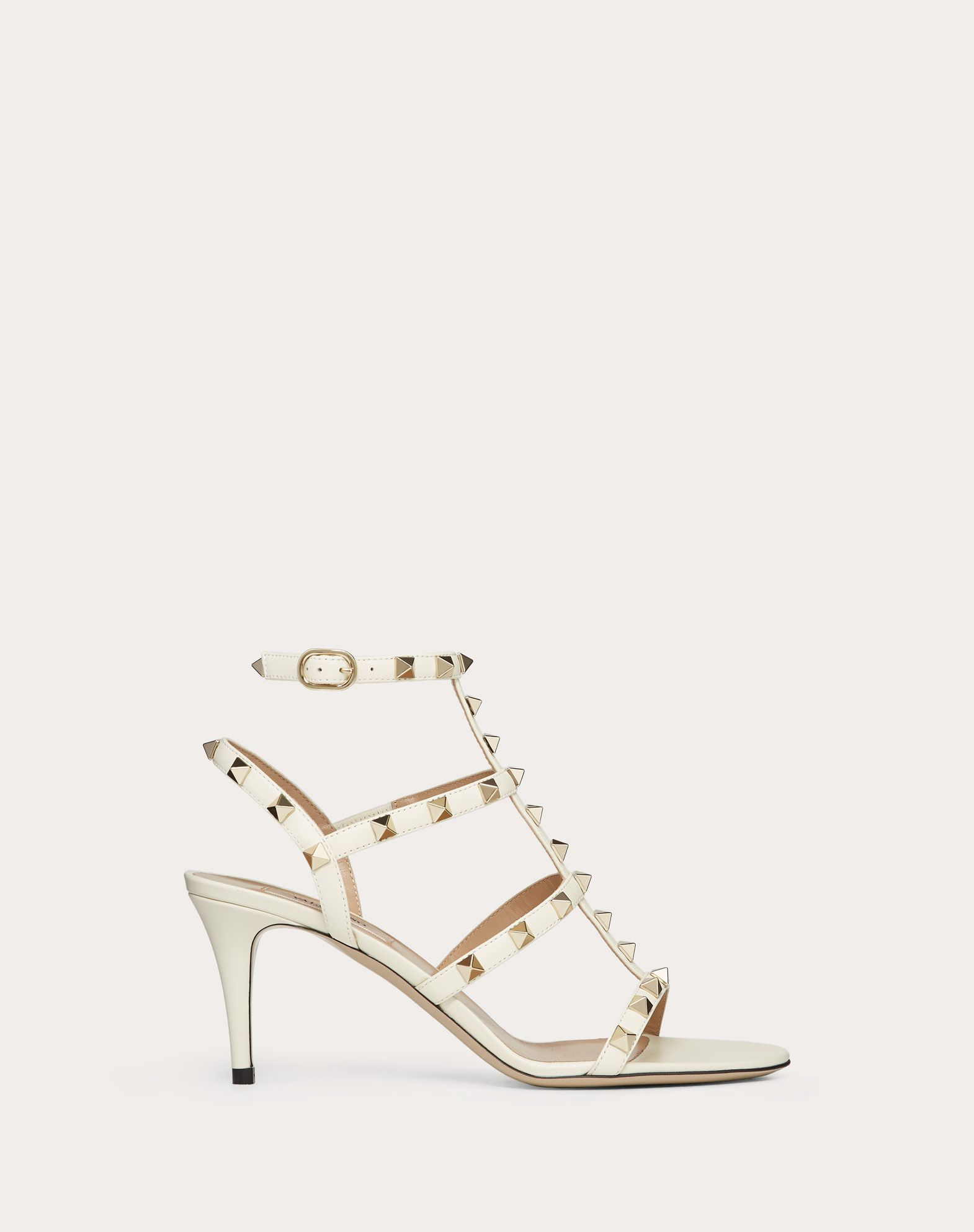 Sandalo Rockstud in vitello con cinturini 70mm