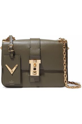 VALENTINO Embellished leather shoulder bag