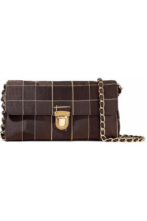 PRADA Checked satin shoulder bag