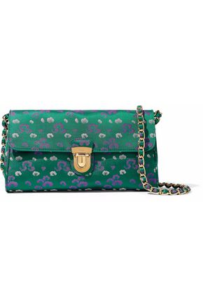 PRADA Floral-print satin shoulder bag
