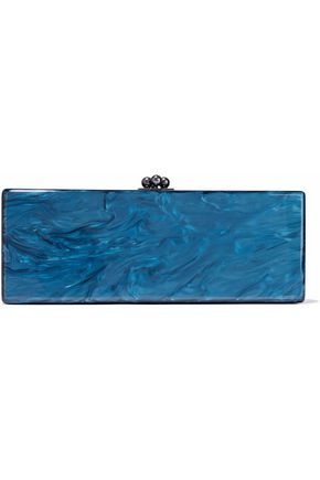 EDIE PARKER Marble-effect acrylic box clutch