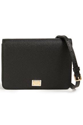 DOLCE & GABBANA Mini textured-leather shoulder bag