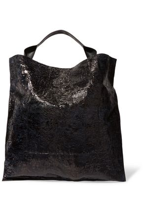 JIL SANDER Coated textured-leather tote