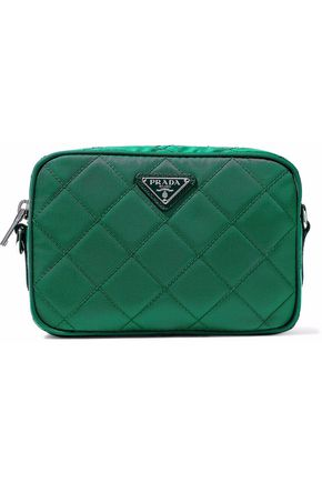 PRADA Mini quilted shell shoulder bag