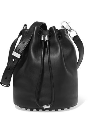 ALEXANDER WANG Alpha studded leather bucket bag