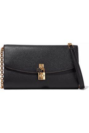 DOLCE & GABBANA Embellished textured-leather shoulder bag