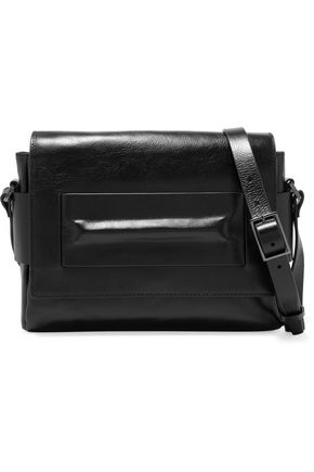 HALSTON HERITAGE Metallic brushed leather shoulder bag