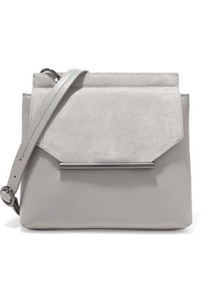 HALSTON HERITAGE Suede-trimmed leather shoulder bag