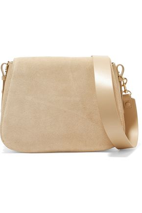 HALSTON HERITAGE Suede and leather shoulder bag