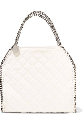 STELLA McCARTNEY Small quilted faux brushed-leather tote